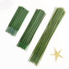 10pcs/lot 17/25/40cm Artificial Flower Stem Handmade DIY Floral Material Iron Wire Pole For Scrapbooking Craft Fake Decor
