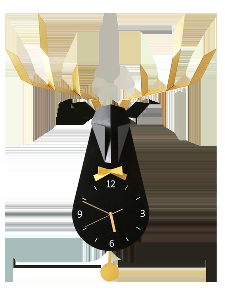 Large 3d Wall Clack Metal Deer Living Room Nordic Creative Clocks Wall Home Decor Modern Clock Mechanism Saat Gift Ideas FZ523
