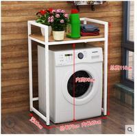 Washing machine rack roller wheel floor multi layer shelf household bathroom storage storage rack balcony laundry cabinet