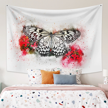 Wall Hanging Tapestry With Butterfly Boho Decor Large Size Wall Tapestry Pink Wall Carpet  Dorm Decor for Bedroom Home Decor butterfly print home decor wall hanging tapestry