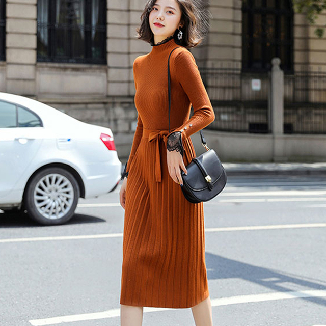Knitted Sweaters Vintage Dress