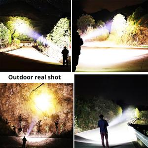 Image 5 - Super bright XHP70.2 LED ไฟฉายกันน้ำยุทธวิธีไฟฉาย LED Telescopic zoom ใช้สำหรับผจญภัย,hunt
