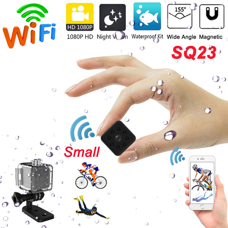 SQ23 WIFI Mini Camera HD 1080P Night Vision Sport Camcorder CMOS Sensor Micro Camera With Waterproof Shell Small Cam SQ23
