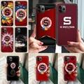 Спарта PRAHA футбольный чехол для телефона iphone 4 4s 5 5S SE 5C 6 6S 7 8 plus X XS XR 11 12 mini Pro Max 2020 черный водонепроницаемый тренд