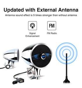 """Image 3 - Lexin Новый S3 3 """"50 Вт MP3 музыкальный аудио плеер Bluetooth колонки для мотоцикла водонепроницаемый портативный стерео с FM радио Bocina"""