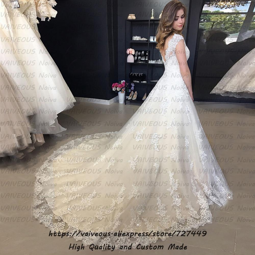 Image 2 - Robe de mariee New Bride Dress Sexy Backless Boho Wedding Dress 2020 Wedding Gowns Cheap Lace Bridal Dresses Vestidos De Novia-in Wedding Dresses from Weddings & Events