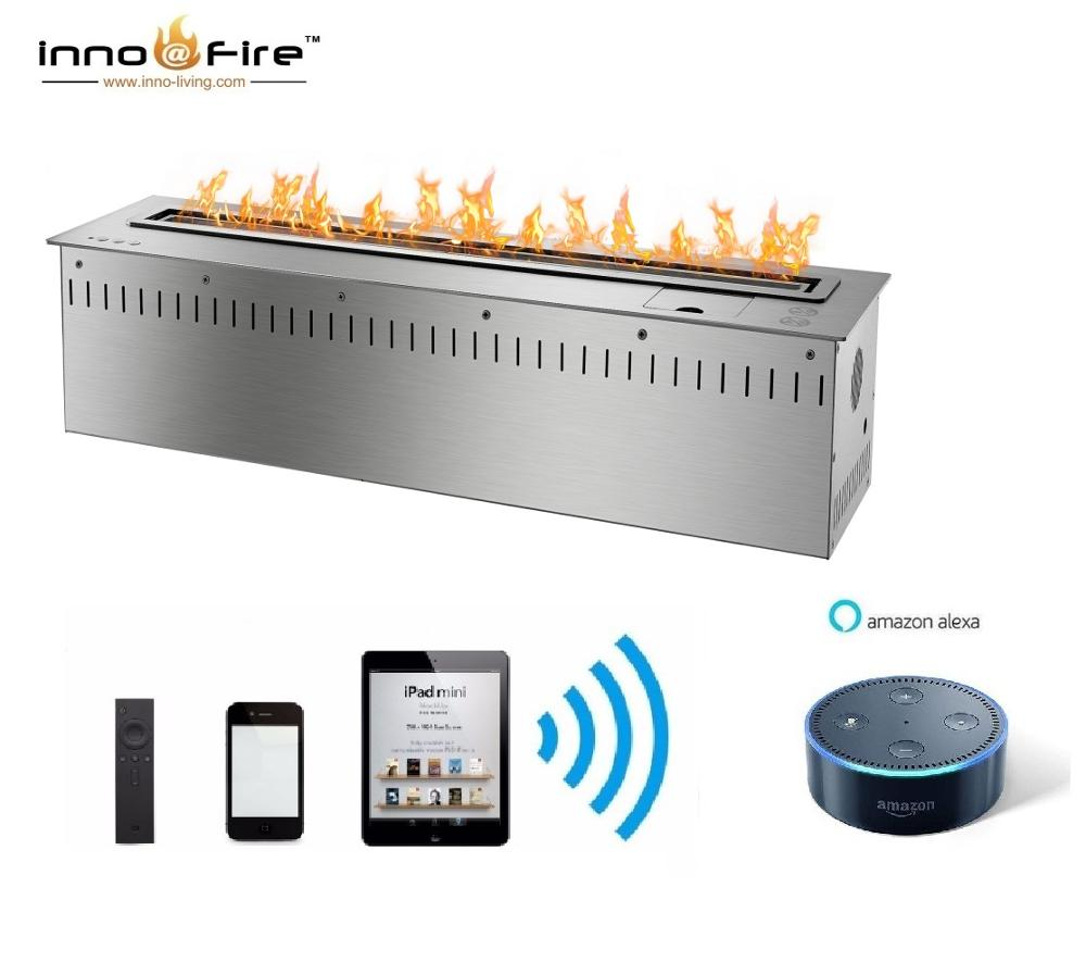 Inno Living Fire 36 Inch Automatic Bio Ethanol Fireplace Remote