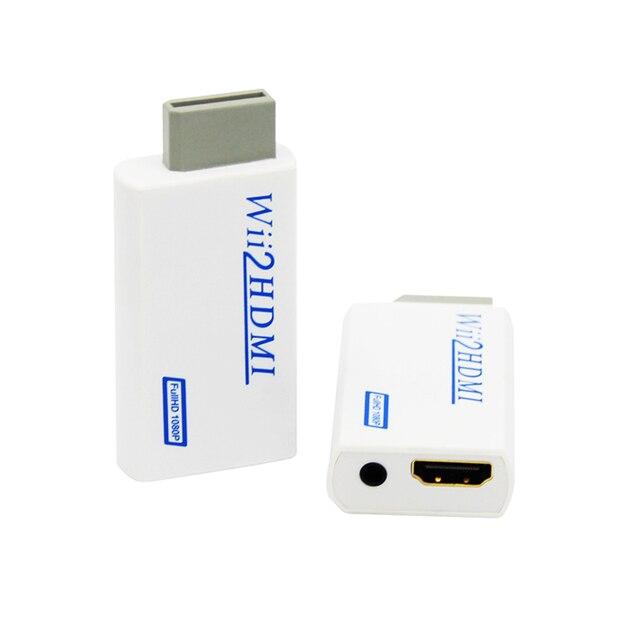 עבור ה wii כדי HDMI ממיר מתאם מלא HD 1080P עבור ה wii כדי HDMI Wii2HDMI ממיר 3.5mm אודיו AUX עבור PC HDTV צג תצוגה