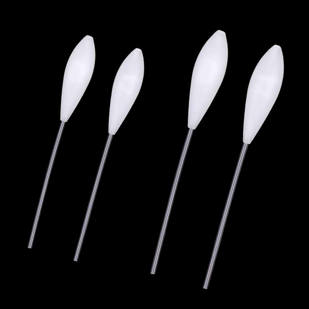 4pcs Acrylic Bombarda Floats Fly Fishing Casting Floats Bobber 5.7g & 10g