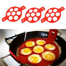 Rings Moulds Egg-Pancake-Molds Breakfast Fried Round Omelette Christmas Silicone 7-Hole