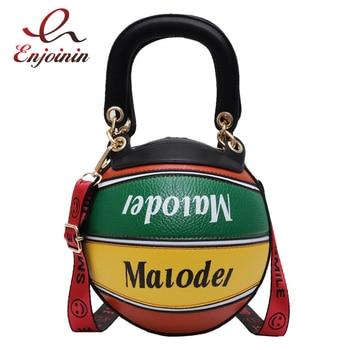 New Design Stitching Color Basketball Women Purses and Handbags Crossbody Casual Tote Bag Shoulder Bag Daily Bag Female Bolsa ethnic style women s crossbody bag with hollow out and color matching design