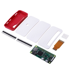 For Raspberry Pi Zero/Zero W Board Kit with 1GHz 512MB RAM Version 1.3 Zero Case GPIO Pin Heatsinks Camera FFC Cable