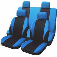 Wysokiej jakości pokrowce na siedzenia samochodowe uniwersalne dopasowanie poliester 3MM gąbka łączona Car Styling Lada pokrowce na fotele samochodowe Seat Sover akcesoria