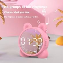 New Children's Bluetooth Speaker Alarm Clock, Children's Sleep Bedside Alarm Clock, Digital Wake-up Temperature, Snooze Alarm Cl