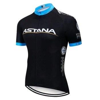 2020 preto astana roupas de ciclismo bicicleta jérsei secagem rápida dos homens roupas verão equipe ciclismo jérsei 9dgel bicicleta shorts conjunto 11