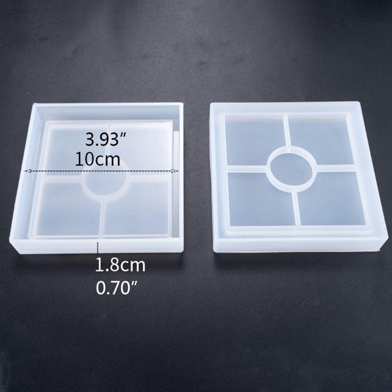 DIY Coaster силиконовая форма кристальная эпоксидная смола литье формы чашка Мат Плесень