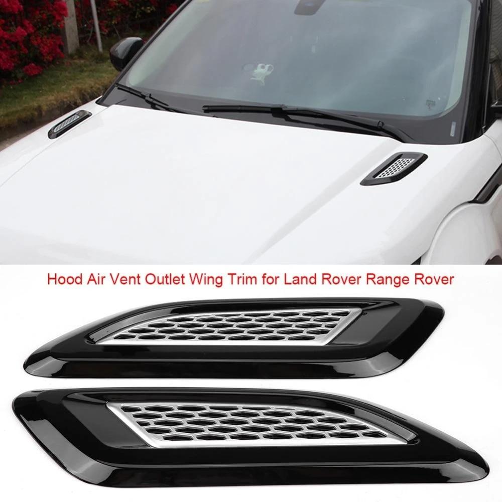 Garniture daile de sortie da/ération de capot pour Land Rover Range Rover Evoque 2012-2018 Noir