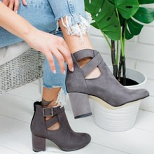 2019 New Spring Autumn Women Boots Ladies Pointed Toe Square Heel Ankle Boots Bota Feminina Winter Shoes Botines Mujer(China)