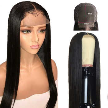 4x4 Closure Wig Straight Lace Closure Wig Straight Human Hair Wig Glueless Pre Plucked Brazilian Hair Wig Maxine Remy Hair Wig - Category 🛒 Hair Extensions & Wigs