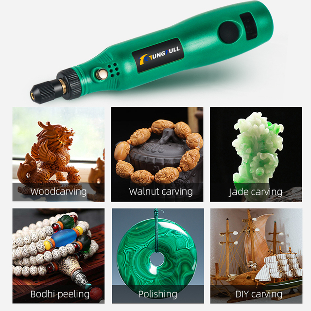 TUNGFULL Cordless Rotary Tool USB Woodworking Engraving Pen DIY For Jewelry Metal Glass Wireless Drill Mini Electric Drill 3