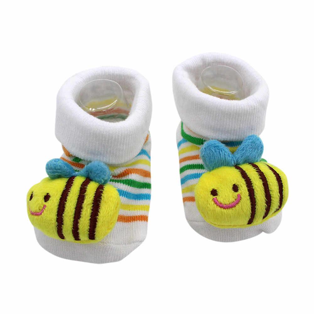 Детские носки с резиновой подошвой для новорожденных девочек и мальчиков; сезон осень-зима; детские носки-тапочки; Нескользящие мягкие носки