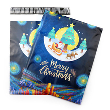 50pcs/Lot Christmas Poly Courier Mailing Packing Bags Thank you 10*13Inch Thicken Waterproof Storage Bag Envelope Custom Postal