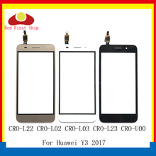 10Pcs/lot For Huawei Y3 2017 CRO-L22 CRO-L02 CRO-L03 Touch Panel Sensor Digitizer Front Glass Outer Y5 Lite 2017 Touch screen ремни narvin 340544 cro tobacco