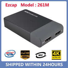 Video-Converter Game PS4 Live-Streaming Xbox-One Ezcap 1080P 261M MIC Support Hd 4K USB