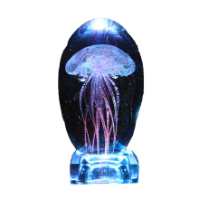 Gifts for Kids Men Women Dad Mom Electric Jellyfish Night Light Home Office Room Desk Decor Lamp for Christmas Thanks Giving
