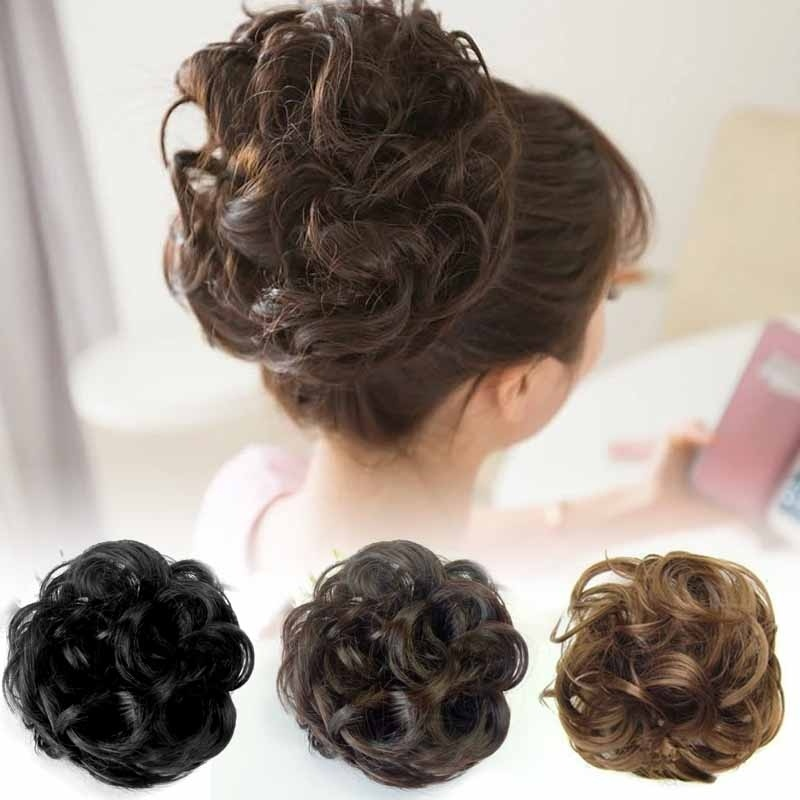 Vigorous Curly Messy Bun Fake Hair Scrunchie Wrap MessyBun Chignon Women Ponytail Holder Hair Extension