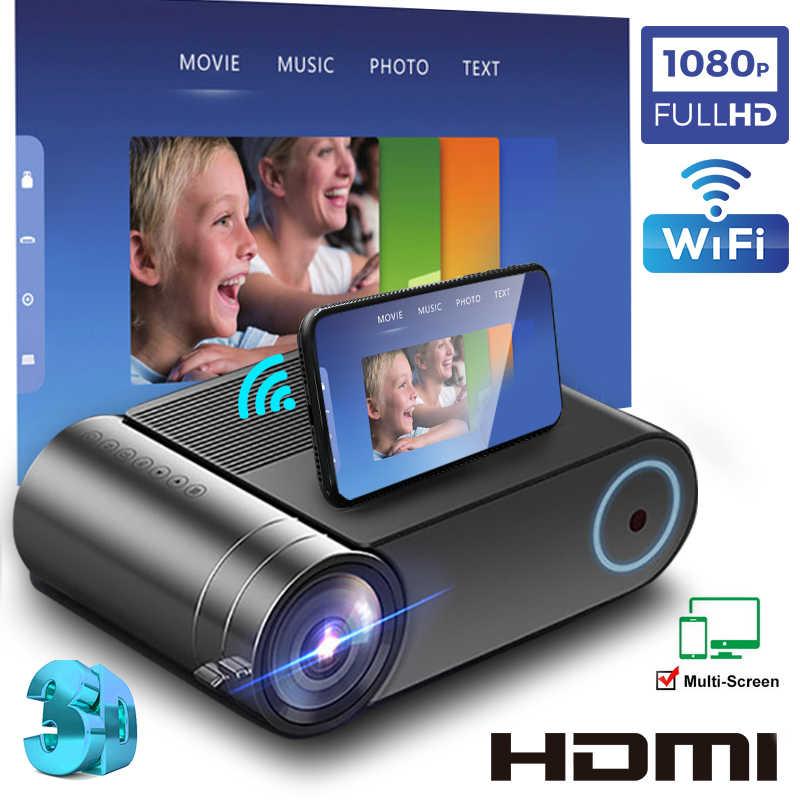 Yeni YG550 yerli projektör 1280x720 mini LED 7000 lümen taşınabilir YG551 WiFi çoklu ekran video projektör 3D VGA HDMI projektör
