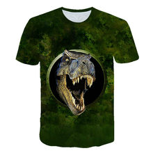 Animal Dinosaur T-shirt for boys and girls, custom short sleeve T-shirt, boy with fashion animation pattern