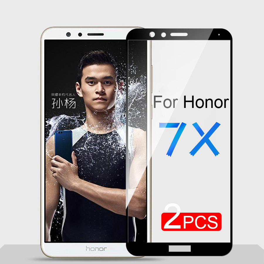 2Pcs Protective Glass For Huawei Honor 7X Tempered Glass Honor7X Screen Protector For Honor7 X BND-L21 BND-L21 Toughened Film