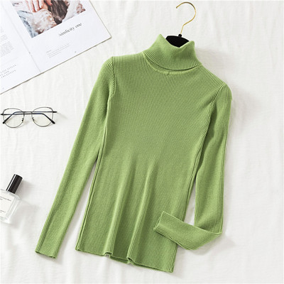 2020 AUTUMN Winter women Knitted Turtleneck Sweater Casual Soft polo-neck Jumper Fashion Slim Femme Elasticity Pullovers 9