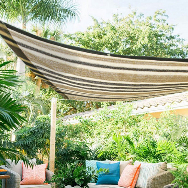 Heat Insulation Net 6-pin Sun Screen Sun Room Blackout Curtain Window Shade Shade Net Brown Classic Balcony Sunscreen Net