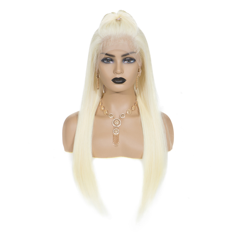 Sevengirls 613 Blonde Full Lace Wig Brazilian Straight Full Lace Human Hair Wigs Pre Plucked Baby Hair Remy Glueless For Woman image