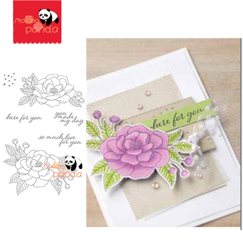 MP124 Flower LOVE Metal Cutting Dies And Stamps Stencil For DIY Scrapbooking Paper/photo Cards Embossing Dies