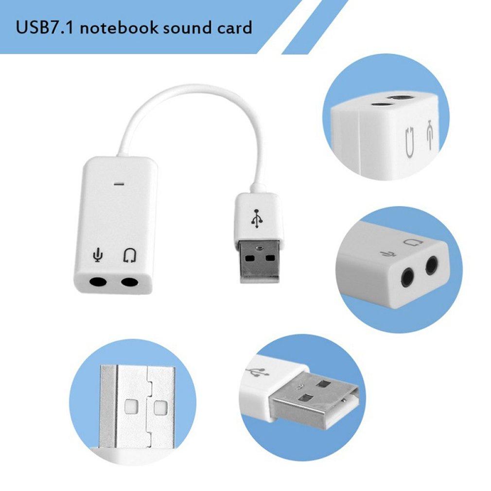 Usb Cable Line Flat Fruit 7.1 Sound Card Karaoke Voice Mixing Free Drive Desktop Computer Notebook External Sound Card
