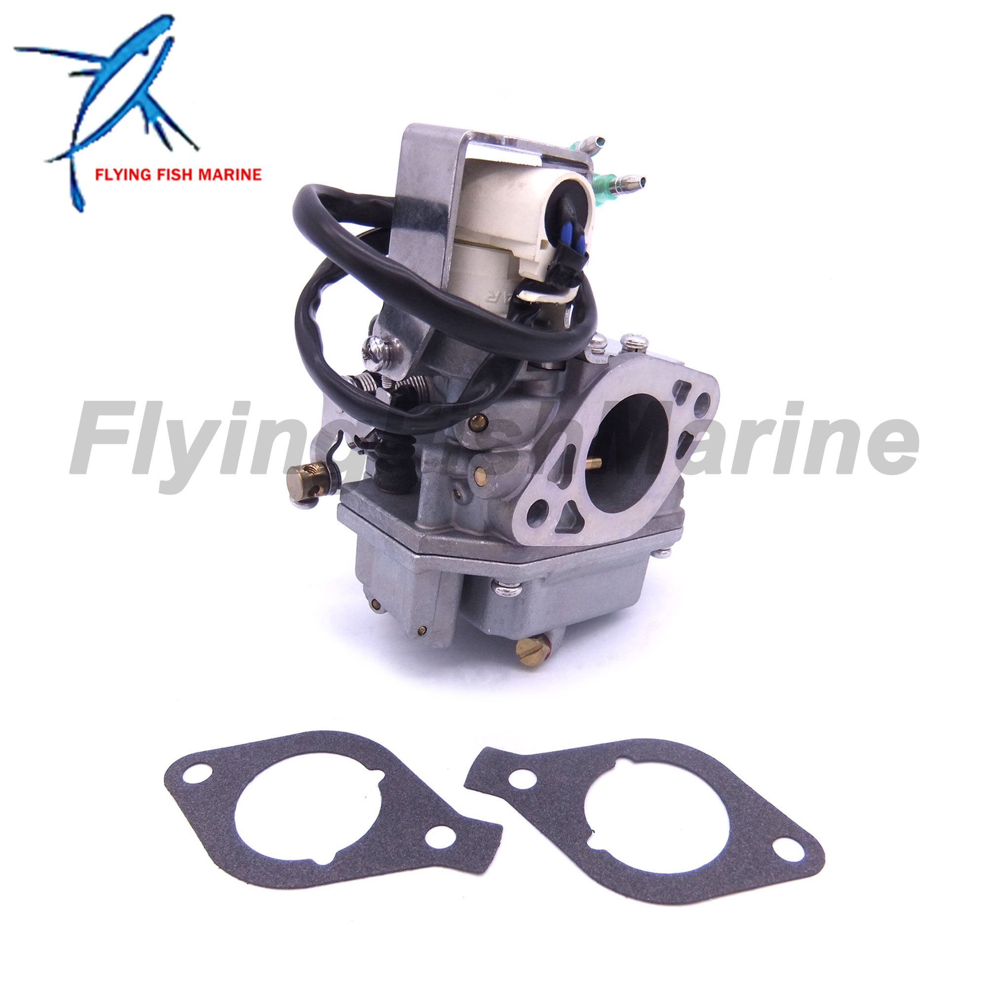 Outboard Motor 6AH-14301-00 6AH-14301-01 Carburetor Assy and 6AH-13646-00 Gaskets (2 pcs) for Yamaha 4-stroke F20 Boat Engine