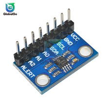 High Accuracy Temperature Sensor MCP9808 I2C Breakout Board Module 2.7V-5V Logic Voltage for Arduino 9808 8pin Connector admp401 mems microphone breakout module board for arduino universal 1 3cm 1cm