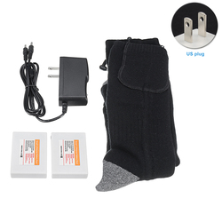 With Remote Control Electric Heated Socks Foot Warmer Outdoor Adjustable Temperature Double Side Thermal Unisex Rechargeable
