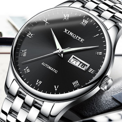 New XINQITE Mens Watches Top Brand Luxury High Quality Automatic Mechanical Sports Watch Men Stainless Steel Watch Waterproof