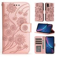 Custodia per telefono a fiori per Xiaomi Redmi Note 4 4X 4A 5 5A 6 6A 7 7A 8 8A 8T 9A 9T 9S 9 Pro GO Flip custodia in pelle copertina per libro indietro Etui