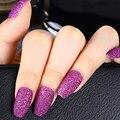 24 шт./пакет блеск гроб накладные ногти для ног, съемная пригодно для балерины, накладные ногти с дизайном, полного покрытия, накладные ногти ...