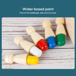 Image 5 - Wooden Memory Stick Chess Game Fun Block Board Game Educational Color Cognitive Ability Family Toys Kids party game for kids