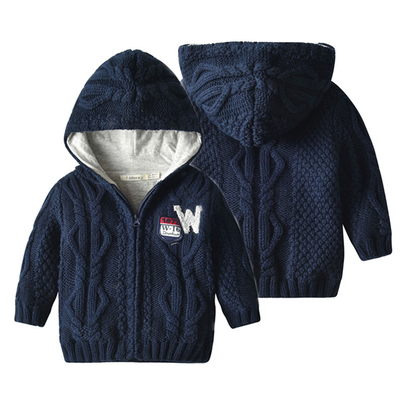 New Baby Sweater Knitted Cardigan Jacket Toddler Baby Outerwear Coat Girls Boys Girls Autumn Winter Infant Button Warm Sweaters