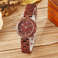 Minimalist Wood Watch Women Simple Ladies Small Bracelet Natural Full Wooden Case WristWatch Quartz Fasion Female Clock Relogio