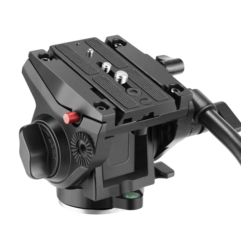 Neewer metal resistente câmera de vídeo tripé fluido arrastar pan cabeça 1/4 e 3/8 polegadas parafusos placa deslizante para câmeras dslr vídeo