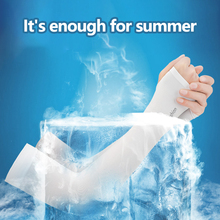 Outdoor Ice Silk Sleeves Breathable Quick Dry UV Sunscreen Cuff Cycling Long Finger Ice Silk Cool Arm Sleeves Summer cheap MUMIAN NYLON WOMEN Cycling Arm sleeve black white gray hiking training volleyball golf horse riding Cycling 1 pair men women