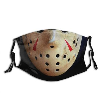 Jason Voorhees Friday The 13th Non-Disposable Mouth Face Mask Anti Haze Dust Mask With Filters Protection Respirator Muffle